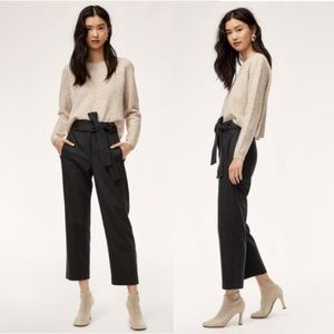 Wilfred Cropped High-Waisted Tie-Front Pant